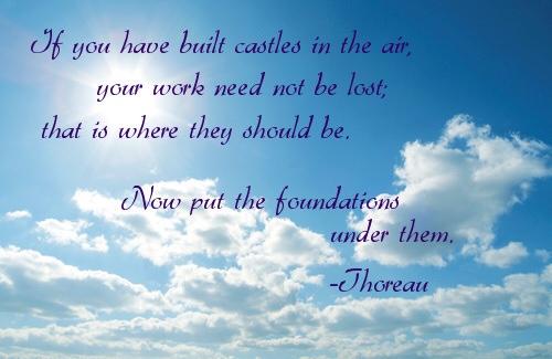 castles in the air thoreau